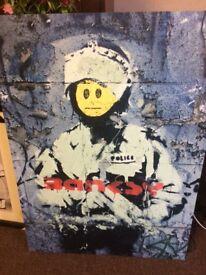 Banksey Prints x 3