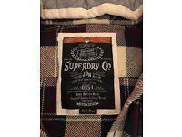 Reduced £20 Superdry lumberjack shirt with hood