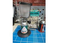 Taymar Butane Gas Camping Lantern LG50 Boxed with 2 canisters and new wick