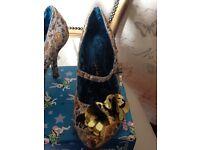 Irregular Choice Gold Shoes Size 41