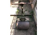 Late Victorian cast iron heavy garden roller