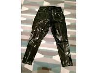 Topshop pvc vinyl shiny jeans 34 waist