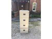 Four draw lockable filing cabinets with keys