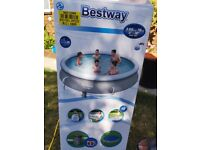 Bestway Quick Up paddling / swimming Pool Set - 12ft - 4161 Litres + Clearwater Pool Starter Set