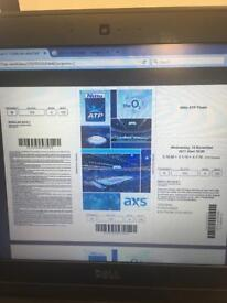 2 Adult tickets for the Nitto ATP Finals 15/11/17 06.00pm