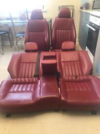 Alfa Romeo 147 Red Leather Interior