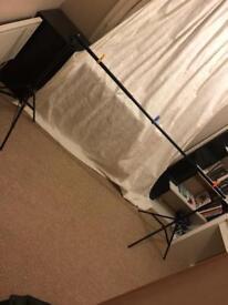 Studio Backdrop set-up.