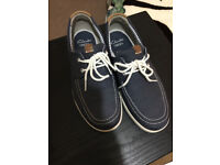 Clarks Men's Boat Style Shoes - Navy - Clarks 26115154 - Size 6 - RRP 80