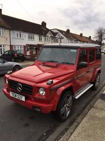 Mercedes 280GE UK G Wagon 1982 Red Automatic G wagen AMG W460