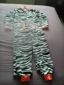 Ladies/girls zebra onesie