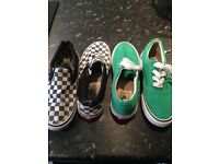 2 pair Vans shoes size 5