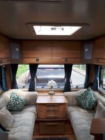 Bailey Pegasus caravan, end bathroom, dining area,