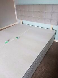 Divan bed and headboard. Very good condition