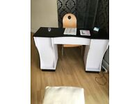 Nail bar reclining pedicure chair and stool £85.00 for the two.