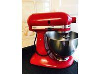 Pillarbox red Artisan Mixer by KitchenAid rrp £499