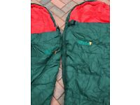 2 SLEEPING BAGS MAKE VANGO IBEX 350 PLUS 2 SELF INFLATING MATTRESS