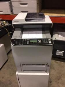 COPIER- RICOH AFICIO SP C242SF MULTIFUNCTION **ONLY 17 COPIES ON BLACK AND 12 COPIES ON COLOR* LASER COPIER.. LIKE NEW