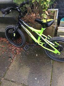 "Boys 16"" Muddy fox mountain bike"
