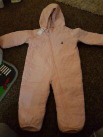 Brand New GAP pink heart snowsuit 6-12mnths