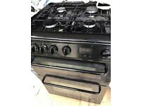 Black and chrome Hotpoint cooker