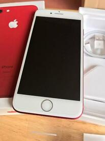 Brand new Product Red iphone 7 128GB With Official Apple leather case Receipt and Apple warranty