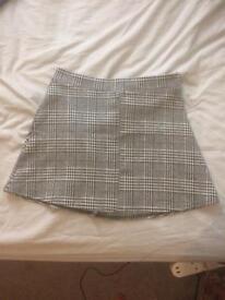 Checkered mini skirt