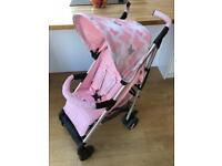 My Babiie Pink Butterfly Stroller with Extras