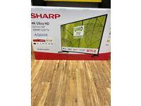 """Sharp 50"""" 4K tv brand new"""