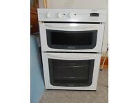 Hotpoint BD31 Double oven, colour white, glass doors. Suitable for built in, not built under.