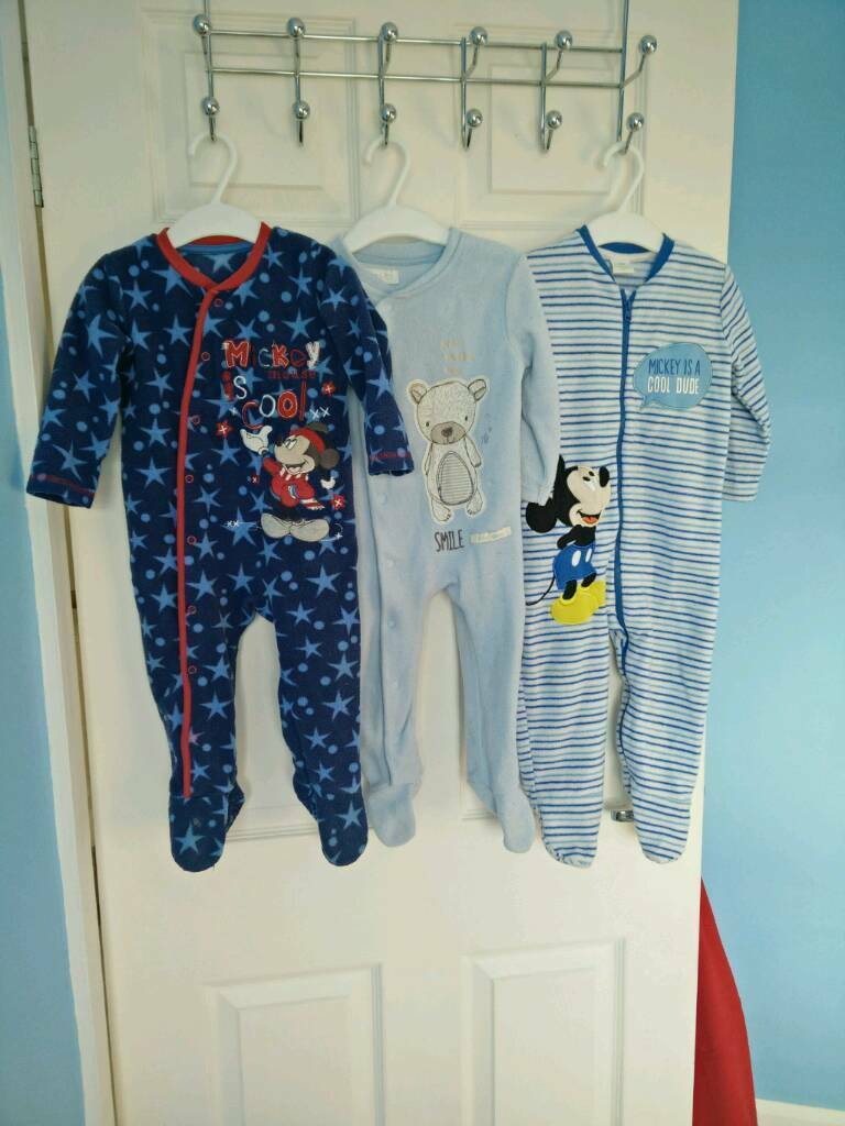 Baby boy fleece pyjamas 9-12 bundle
