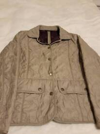 Women's size 12 Barbour quilted coat