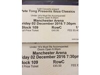 2 X Pete Tong Ibiza Classics Tickets Manchester 2nd December