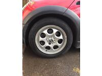 15inch mini pepper pot style alloys with run flat tyres included