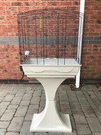 BIRD CAGE WITH STAND. (Thornaby)