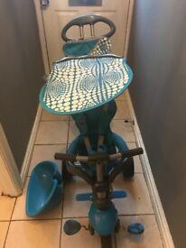 4 in 1 smart trike blue