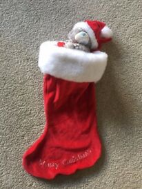 Brand new with tag, Me to You Bear Christmas Stocking, £7