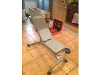 BRAND NEW WEIGHT BENCH IN THE BOX.