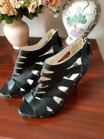 Brand new black shoes with zip detail