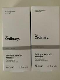2 x The Ordinary Salicylic Acid 2% Masque | New & Authentic
