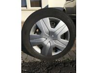 HONDA CIVIC STEEL WHEELS with TRIMS and WINTER TYRES