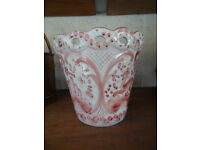 Pink and White Plant Pot