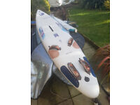 Windsurfer Bic Vivace 282 plus loads of equipment and Harness