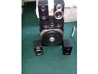 EDIFIER AMP GOOD WORKING AMP WITH 5 SPEAKERS