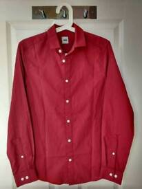 Dark red long sleeve shirt, size XS