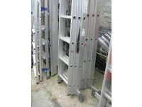 triple extension ladder 2m closed used