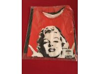 NEW - Marilyn Monroe with Tattoos T Shirt - Kids Size Large
