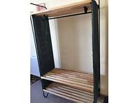 Ikea open wardrobe with shelves