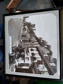 East Grinstead - Old Framed Town Picture vintage