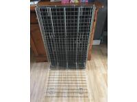 Large two door dog cage with base