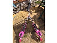 Pink zip scooter